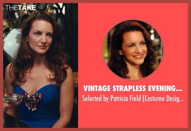 Vintage Strapless Evening Dress blue field from Sex and the City 2 seen with Kristin Davis (Charlotte York)