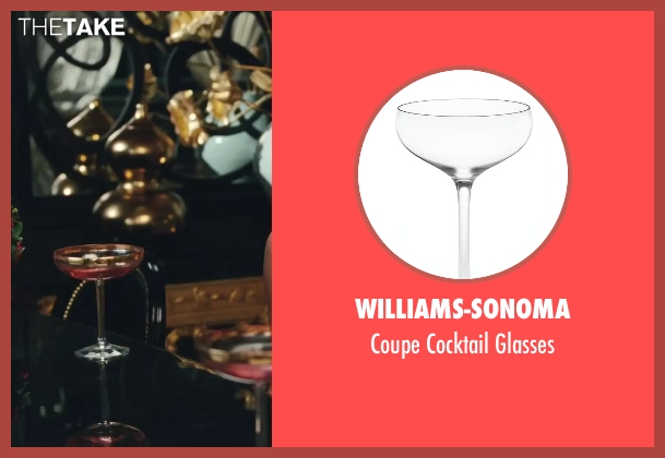 Williams-Sonoma glasses from Sex and the City 2 seen with Kristin Davis (Charlotte York)
