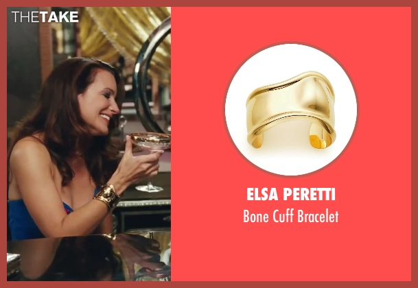 Elsa Peretti gold bracelet from Sex and the City 2 seen with Kristin Davis (Charlotte York)