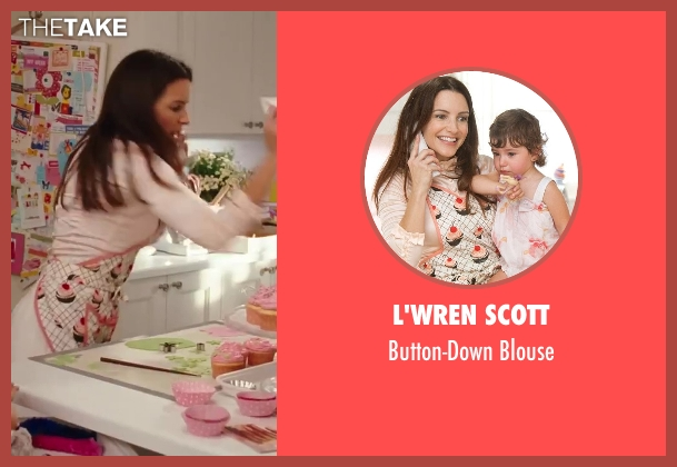 L'Wren Scott pink blouse from Sex and the City 2 seen with Kristin Davis (Charlotte York)