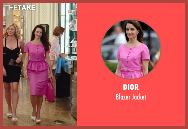 Dior pink jacket from Sex and the City 2 seen with Kristin Davis (Charlotte York)