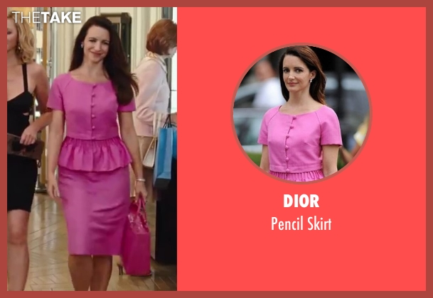 Dior pink skirt from Sex and the City 2 seen with Kristin Davis (Charlotte York)