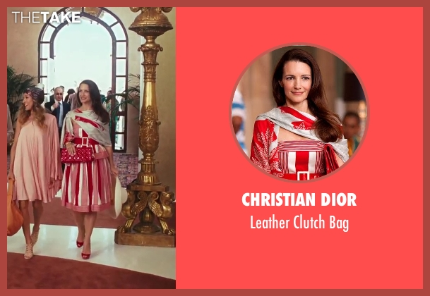 Christian Dior red bag from Sex and the City 2 seen with Kristin Davis (Charlotte York)