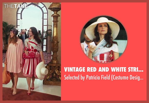 Vintage Red And White Stripe Dress red field from Sex and the City 2 seen with Kristin Davis (Charlotte York)
