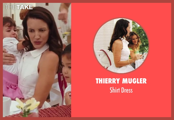 Thierry Mugler white dress from Sex and the City 2 seen with Kristin Davis (Charlotte York)