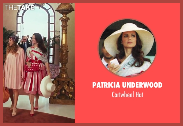 Patricia Underwood white hat from Sex and the City 2 seen with Kristin Davis (Charlotte York)