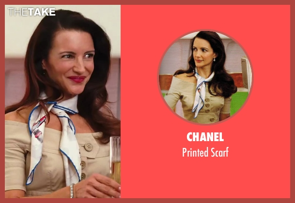 Chanel white scarf from Sex and the City 2 seen with Kristin Davis (Charlotte York)