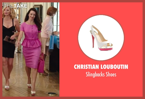 Christian Louboutin white shoes from Sex and the City 2 seen with Kristin Davis (Charlotte York)