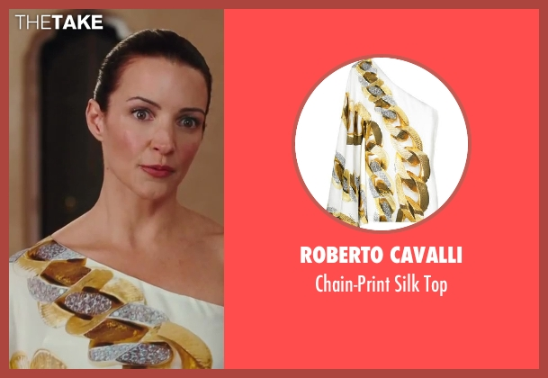 Roberto Cavalli white top from Sex and the City 2 seen with Kristin Davis (Charlotte York)