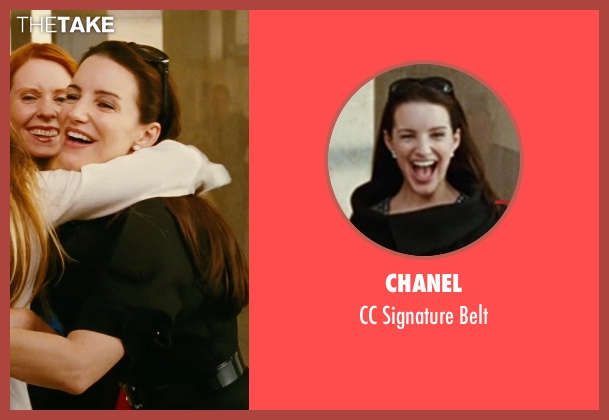 Chanel black belt from Sex and the City seen with Kristin Davis (Charlotte York)