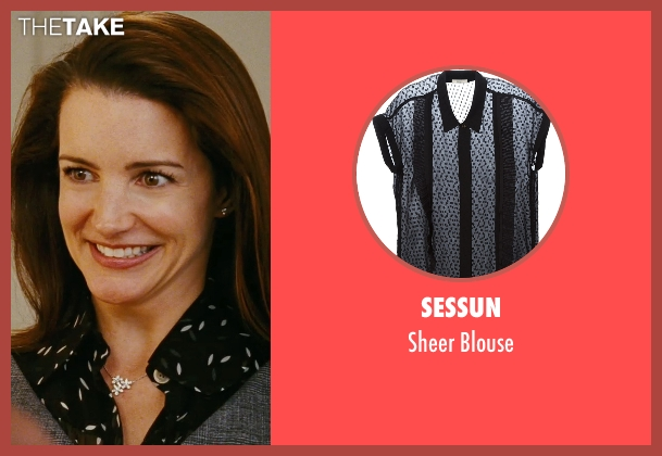 Sessun black blouse from Sex and the City seen with Kristin Davis (Charlotte York)