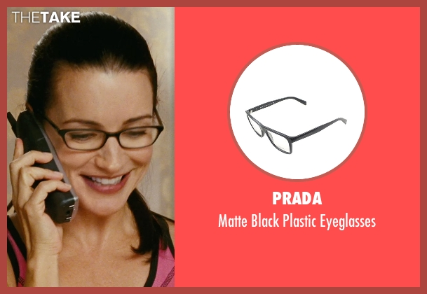 Prada black eyeglasses from Sex and the City seen with Kristin Davis (Charlotte York)