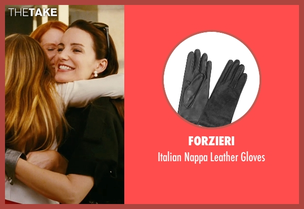 Forzieri black gloves from Sex and the City seen with Kristin Davis (Charlotte York)