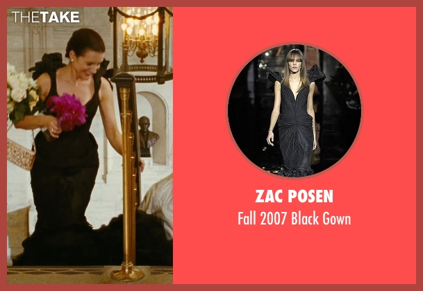 Zac Posen black gown from Sex and the City seen with Kristin Davis (Charlotte York)