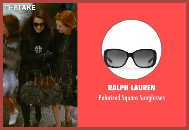 Ralph Lauren black sunglasses from Sex and the City seen with Kristin Davis (Charlotte York)