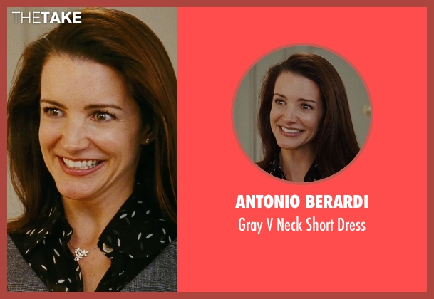Antonio Berardi gray dress from Sex and the City seen with Kristin Davis (Charlotte York)