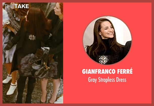 Gianfranco Ferré gray dress from Sex and the City seen with Kristin Davis (Charlotte York)