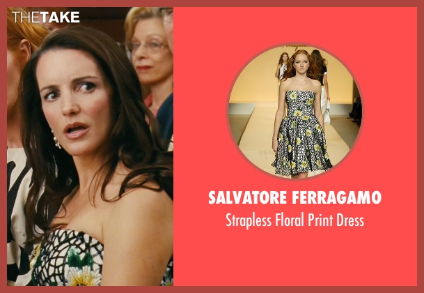 Salvatore Ferragamo green dress from Sex and the City seen with Kristin Davis (Charlotte York)