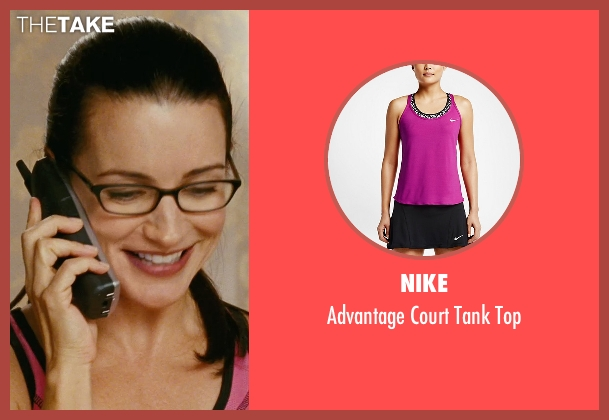 Nike pink top from Sex and the City seen with Kristin Davis (Charlotte York)