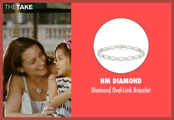 NM Diamond silver bracelet from Sex and the City seen with Kristin Davis (Charlotte York)