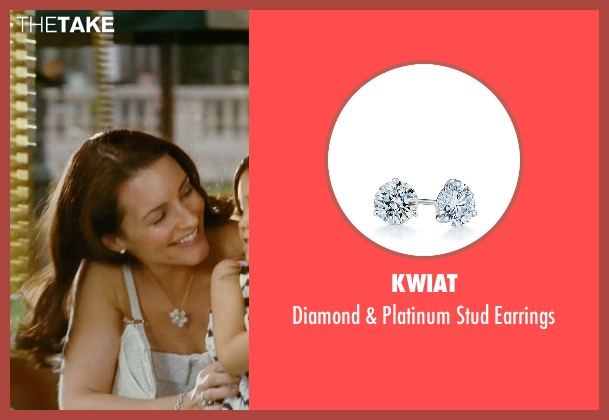 Kwiat silver earrings from Sex and the City seen with Kristin Davis (Charlotte York)