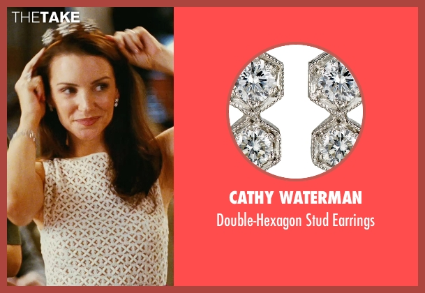 Cathy Waterman silver earrings from Sex and the City seen with Kristin Davis (Charlotte York)