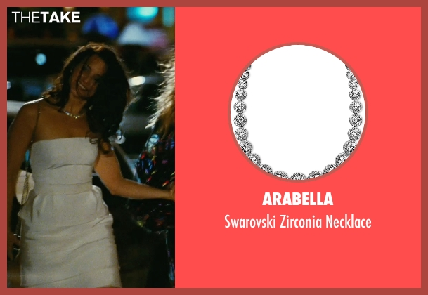 Arabella silver necklace from Sex and the City seen with Kristin Davis (Charlotte York)