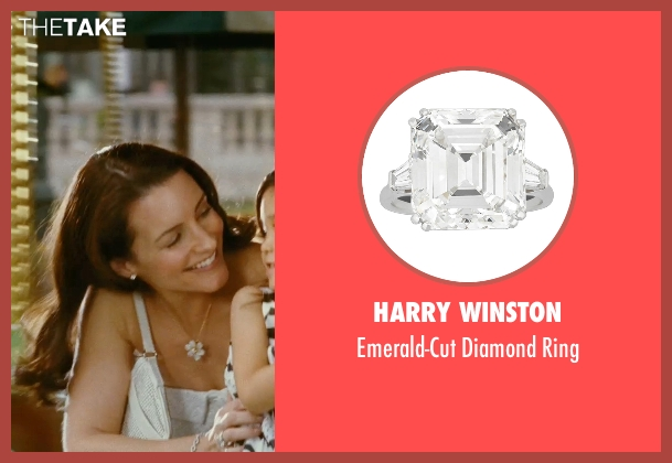 Harry Winston silver ring from Sex and the City seen with Kristin Davis (Charlotte York)