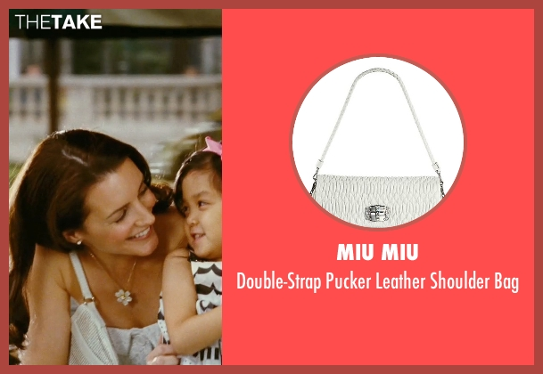 Miu Miu white bag from Sex and the City seen with Kristin Davis (Charlotte York)