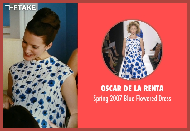 Oscar De La Renta white dress from Sex and the City seen with Kristin Davis (Charlotte York)