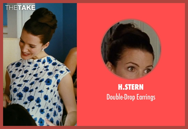 H.Stern white earrings from Sex and the City seen with Kristin Davis (Charlotte York)