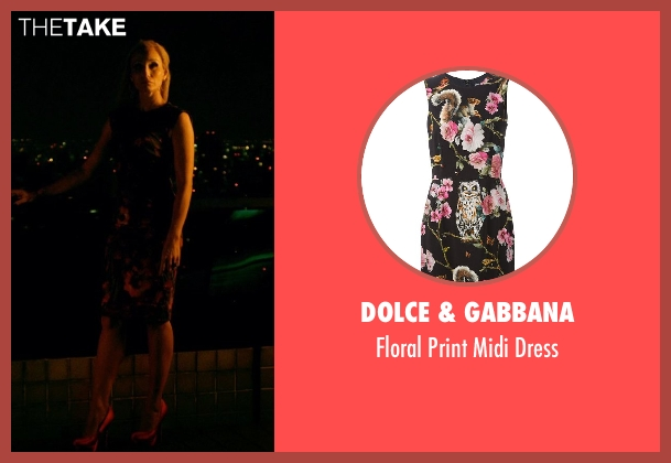 Dolce & Gabbana black dress from Only God Forgives seen with Kristin Scott Thomas (Crystal)