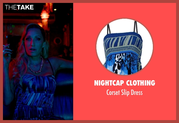 Nightcap Clothing blue dress from Only God Forgives seen with Kristin Scott Thomas (Crystal)