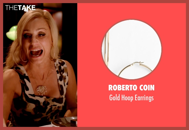 Roberto Coin gold earrings from Only God Forgives seen with Kristin Scott Thomas (Crystal)