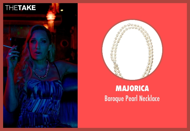Majorica white necklace from Only God Forgives seen with Kristin Scott Thomas (Crystal)