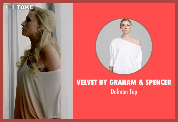 Velvet By Graham & Spencer white top from Only God Forgives seen with Kristin Scott Thomas (Crystal)