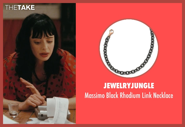 JewelryJungle black necklace from Confessions of a Shopaholic seen with Krysten Ritter (Suze)