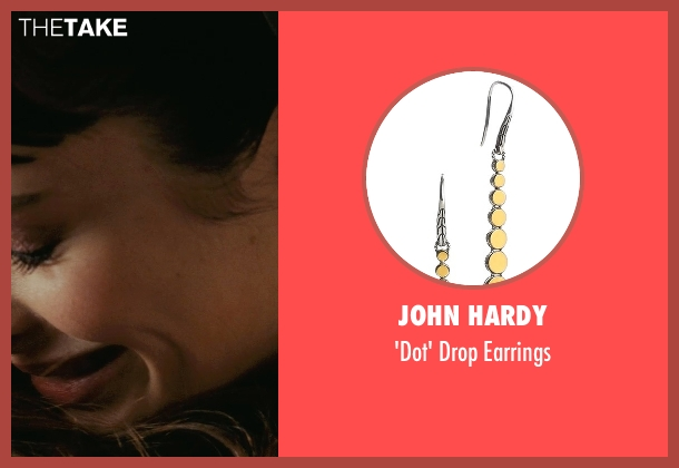 John Hardy gold earrings from Confessions of a Shopaholic seen with Krysten Ritter (Suze)