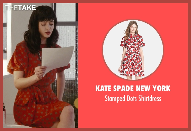 Kate Spade New York red shirtdress from Confessions of a Shopaholic seen with Krysten Ritter (Suze)