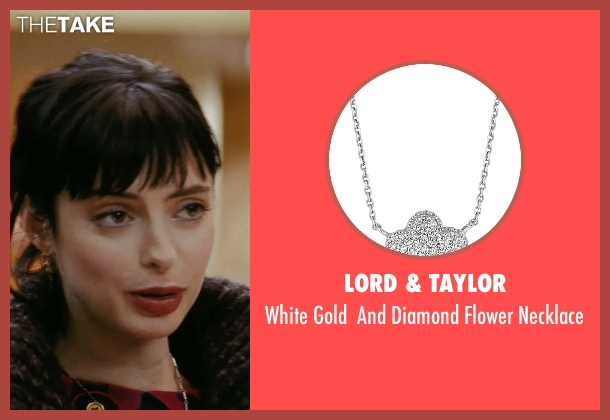 Lord & Taylor silver necklace from Confessions of a Shopaholic seen with Krysten Ritter (Suze)