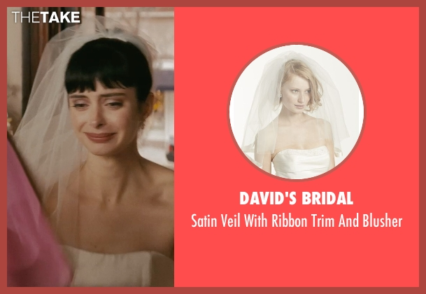 David's Bridal white blusher from Confessions of a Shopaholic seen with Krysten Ritter (Suze)
