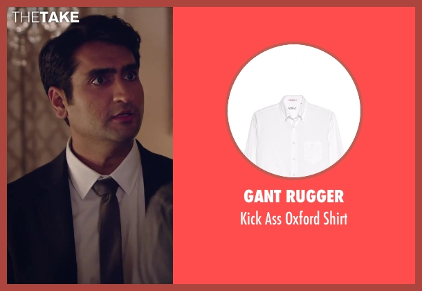 Gant Rugger white shirt from Hot Tub Time Machine 2 seen with Kumail Nanjiani (Unknown Character)
