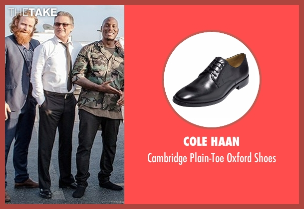 Cole Haan black shoes from Fast 8 seen with Kurt Russell (Mr. Nobody)