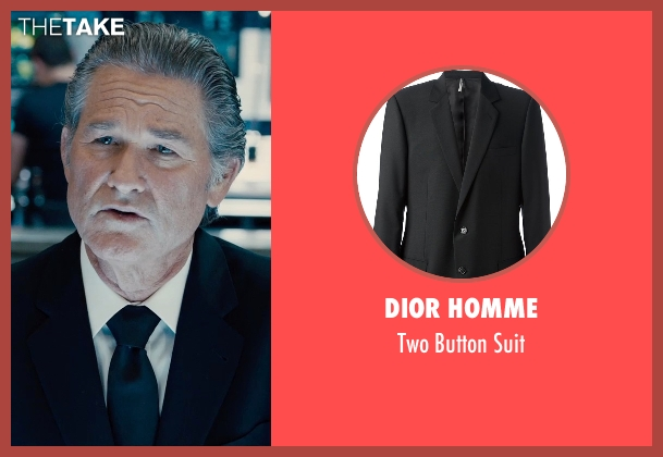 Dior Homme black suit from Furious 7 seen with Kurt Russell (Mr. Nobody)