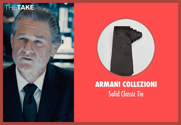 Armani Collezioni black tie from Furious 7 seen with Kurt Russell (Mr. Nobody)