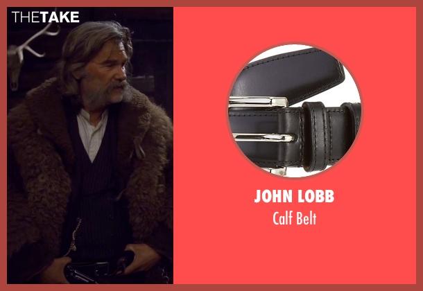 John Lobb black belt from The Hateful Eight seen with Kurt Russell (John 'The Hangman' Ruth)