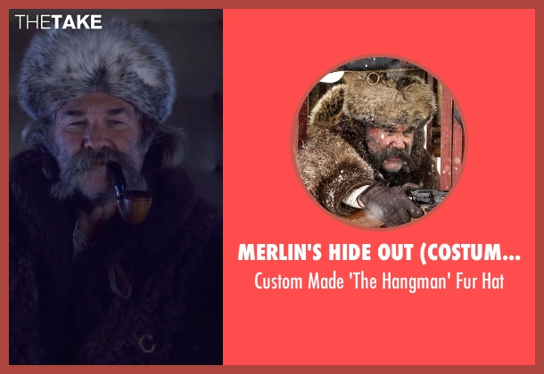 Merlin's Hide Out (Costume Designer) brown hat from The Hateful Eight seen with Kurt Russell (John 'The Hangman' Ruth)