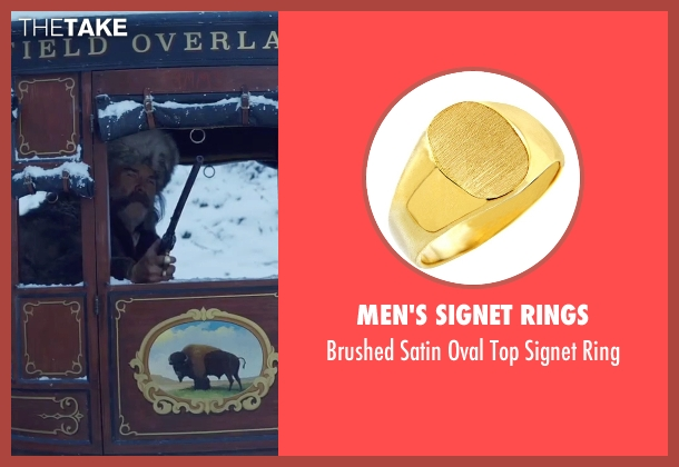 Men's Signet Rings gold ring from The Hateful Eight seen with Kurt Russell (John 'The Hangman' Ruth)