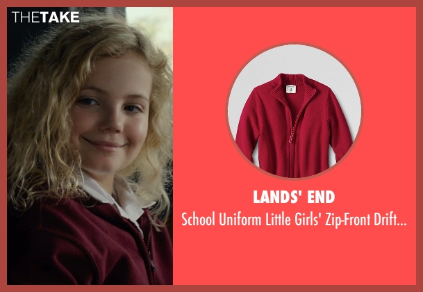 Lands' End red cardigan from Before I Wake seen with Kyla Deaver (Annie)