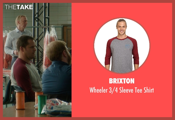 Brixton red shirt from The D Train seen with Kyle Bornheimer (Randy)